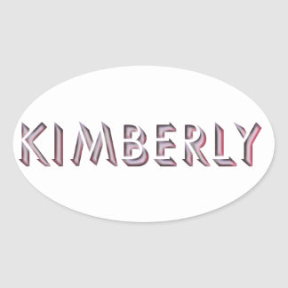 Kimberly-Aufkleber Ovaler Aufkleber