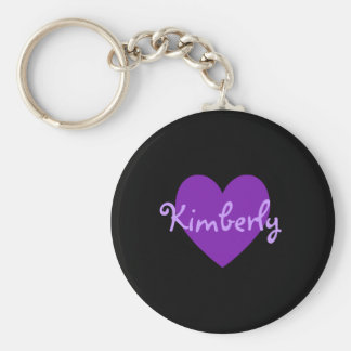 Kimberly in Lila Standard Runder Schlüsselanhänger