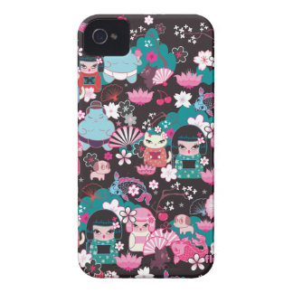 Kimono-Süssen Kawaii BlackBerry-Kasten durch Flaum Case-Mate iPhone 4 Hülle