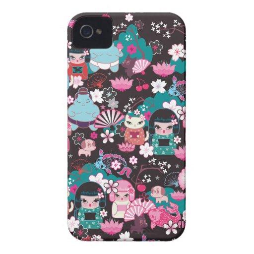 Kimono-Süssen Kawaii BlackBerry-Kasten durch Flaum iPhone 4 Hüllen