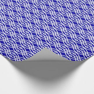 Kimonodruck, Kobaltblau und Weiß Geschenkpapier