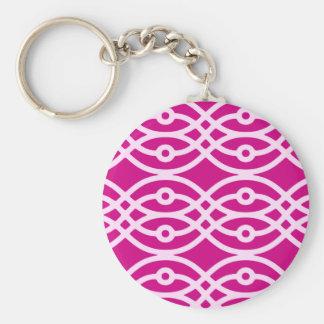 Kimonodruck, -MAGENTA und -ROSA Schlüsselanhänger