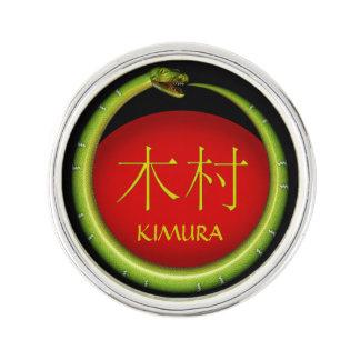 Kimura Monogramm-Schlange Anstecknadel
