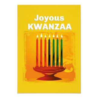 Kinara Kwanzaa Feiertags-Party Einladungen