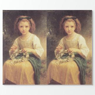 Kind, das eine Krone durch W.A. Bouguereau flicht Geschenkpapier