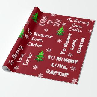 Kind, das Geschenk personalisiertes Weihnachten Geschenkpapier