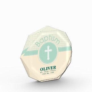 Kind der Gott-Taufe, Geschlechts-neutrales Grün Acryl Auszeichnung