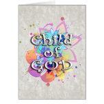 Kind des Gott-Regenbogen-Aquarells Grußkarten
