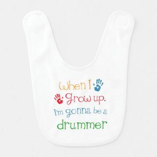 Kind des Schlagzeuger-Spieler-(Zukunft) Babylätzchen