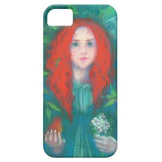 Kind des Waldes, Fantasiekunstingwer-Mädchengrün iPhone 5 Etuis