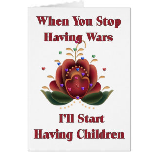 Kind-Freier Pazifist Karte