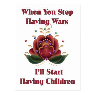 Kind-Freier Pazifist Postkarte