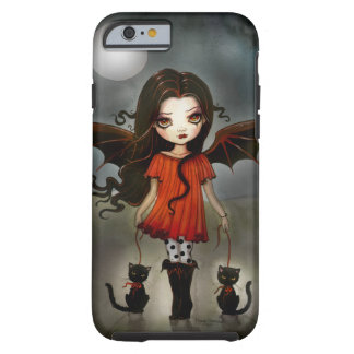 Kind gotischen Vampirs Halloweens mit Katzen Tough iPhone 6 Hülle