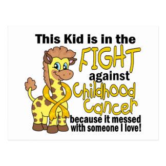 Kind im Kampf gegen Kindheits-Krebs Postkarte