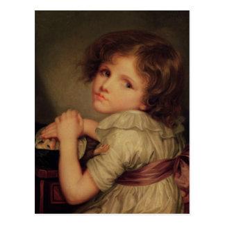 Kind mit einer Puppe Postkarte