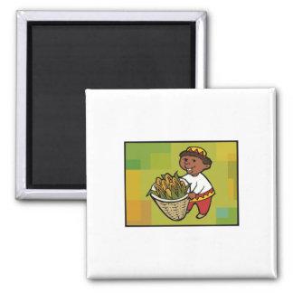 Kind mit Mais für Kwanzaa Kühlschrankmagnete