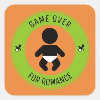 Kind und das Ende des Romance Quadratischer Aufkleber