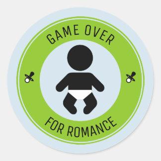 Kind und das Ende des Romance Runder Aufkleber