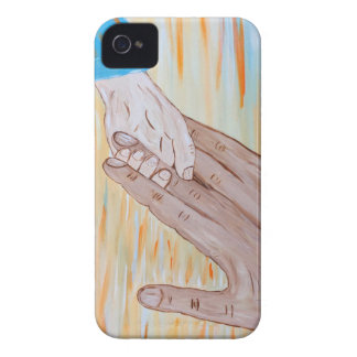 Kind, welches die Hand des Vaters hält iPhone 4 Case-Mate Hülle