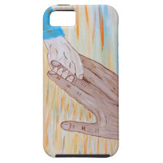 Kind, welches die Hand des Vaters hält iPhone 5 Schutzhülle