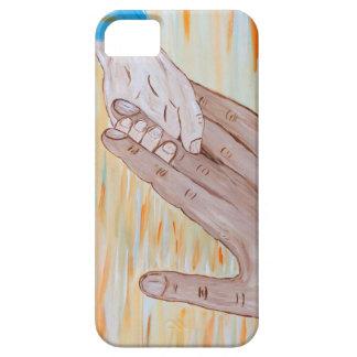 Kind, welches die Hand des Vaters hält iPhone 5 Schutzhüllen