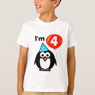 Kinder4. Geburtstags-Shirt für das Kind mit vier T-Shirt