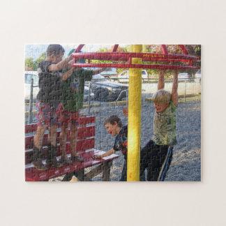 Kinder auf Spielplatz-Kreis-Puzzlespiel #3 Puzzle