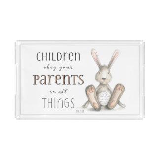 Kinder befolgen Ihr Elternteil-Col. 3:20 Acryl Tablett