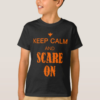 Kinder behalten Ruhe und erschrecken an mit Geist T-Shirt