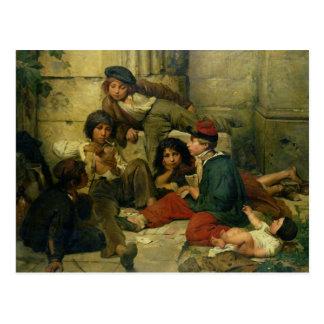 Kinder der Straßen von Paris, 1852 Postkarte