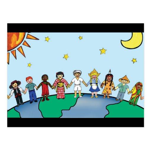 Kinder der Welt Postkarte