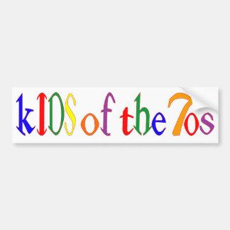 Kinder des Siebzigerjahre Autoaufklebers Autoaufkleber