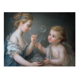 Kinder, die Blasen durchbrennen Postkarten