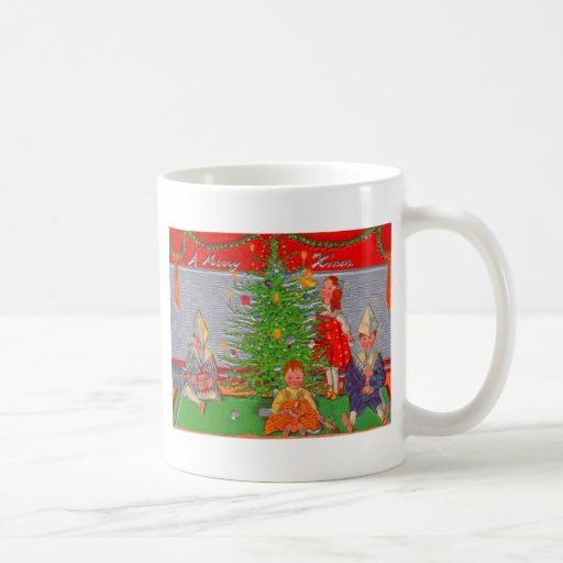 kinder die den weihnachtsbaum genie en tasse zazzle. Black Bedroom Furniture Sets. Home Design Ideas