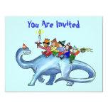 Kinder, die Dinosaurier GEBURTSTAGS-PARTY 10,8 X 14 Cm Einladungskarte