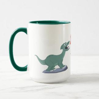 Kinder, die Dinosaurier-Kunst durch Jeff Nevins Tasse