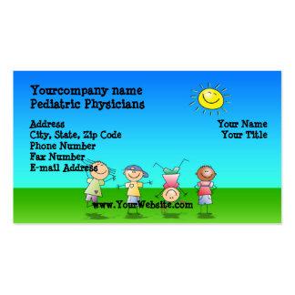 Kinder, die draußen, sonniger TagesVisitenkarten Visitenkarte