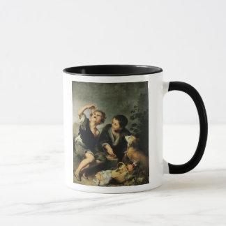 Kinder, die eine Torte, 1670-75 essen Tasse