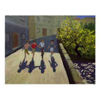 Kinder, die Lesbos 1999 laufen lassen Postkarte