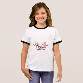 Kinder, die Werkzeuge kochen Ringer T-Shirt