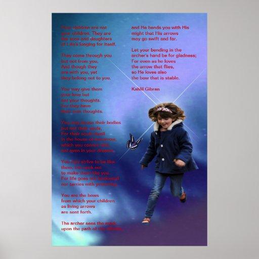 Kinder durch Kahlil Gibran Posterdrucke