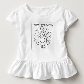 Kinder färben Ihr eigenes die Türkei-Shirt Kleinkind T-shirt