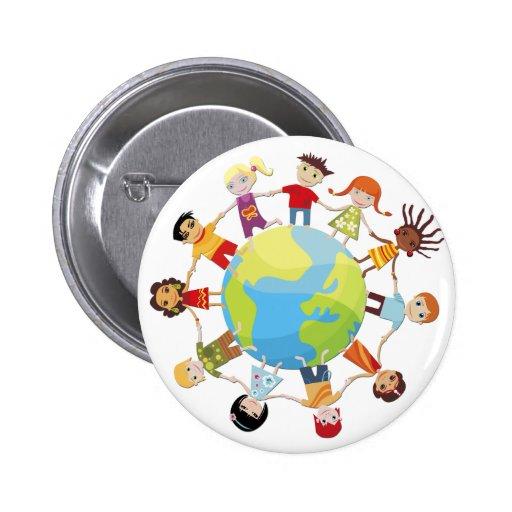 Kinder für Weltfrieden Anstecknadelbutton