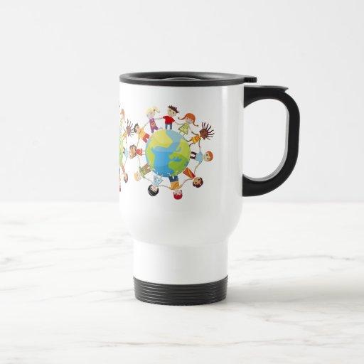 Kinder für Weltfrieden Kaffee Haferl
