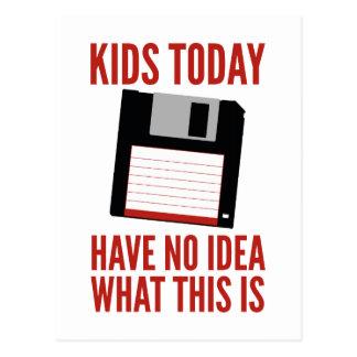 Kinder haben heute keine Ahnung, was dieses ist Postkarte