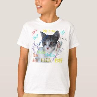 Kinder hallo um den WeltHanes T - Shirt