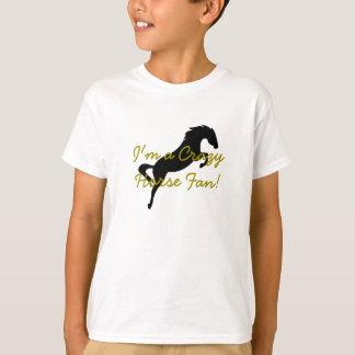"""Kinder """"ich bin ein verrückter Pferdefan!"""" Hemd T-Shirt"""