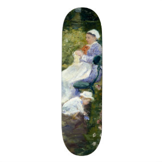 Kinder in einem Garten (die Krankenschwester) Skateboard Deck