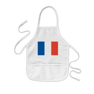 Kinder Küchenschürze mit Frankreich Fahne Kinderschürze