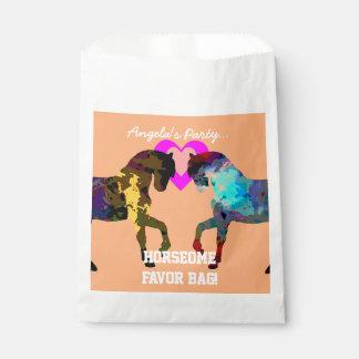 Kinder Pferd und Herz-Bevorzugungs-Taschen für Geschenktütchen
